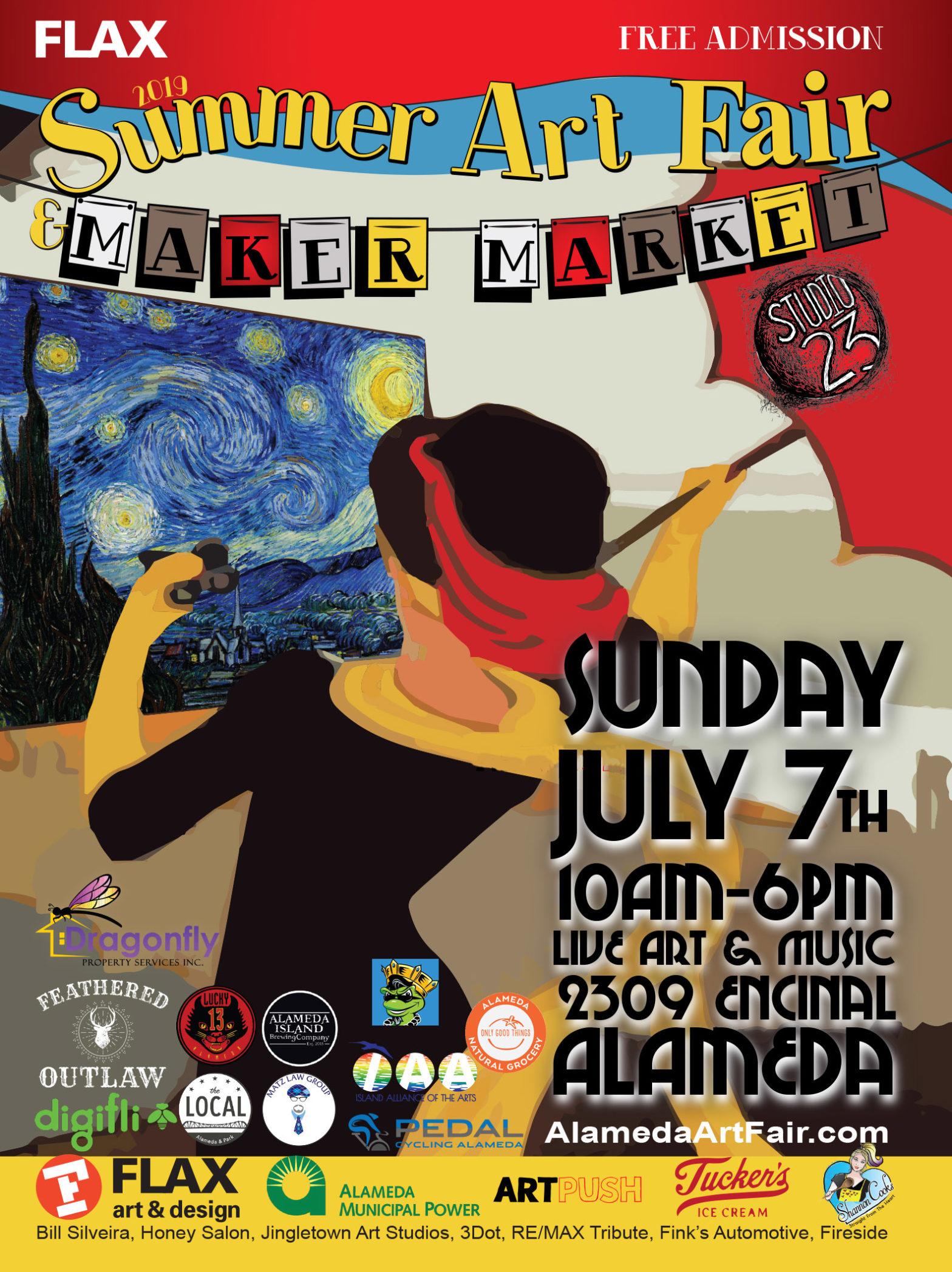 Alameda Summer Art Fair Poster